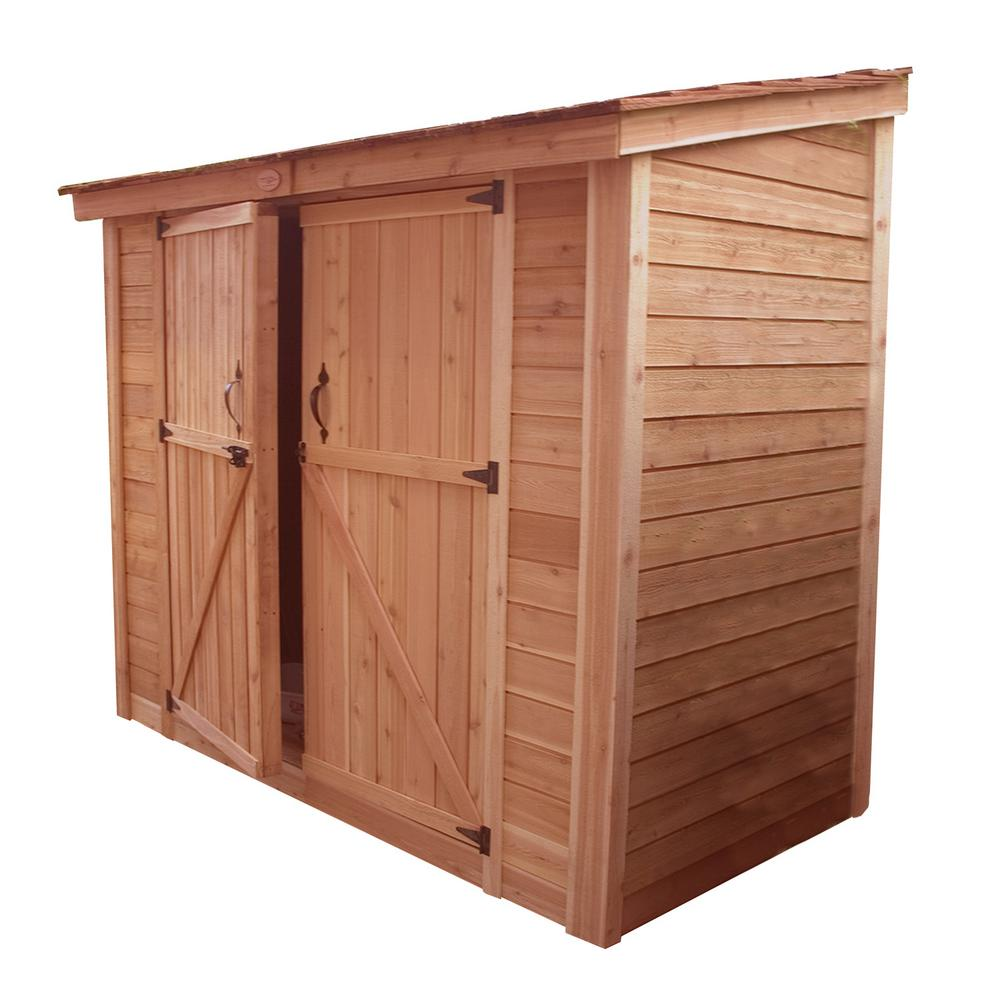 Outdoor Living Today Spacesaver 8 ft. x 4 ft. Western Red Cedar Double Door Storage Shed