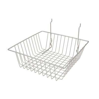 12 in. W x 12 in. D x 4 in. H Chrome Small Basket