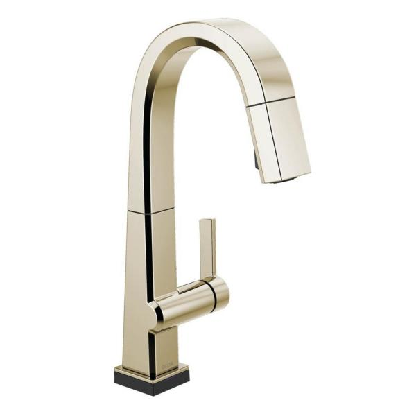 Pivotal Single-Handle Bar Faucet with Touch2O Technology and MagnaTite Docking in Polished Nickel