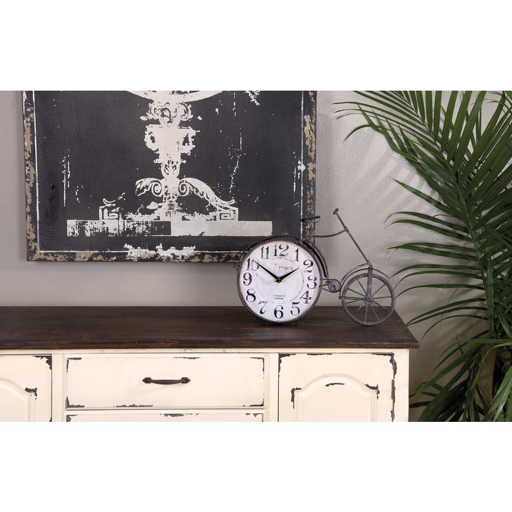 Bicycle 17 in. Table Clock