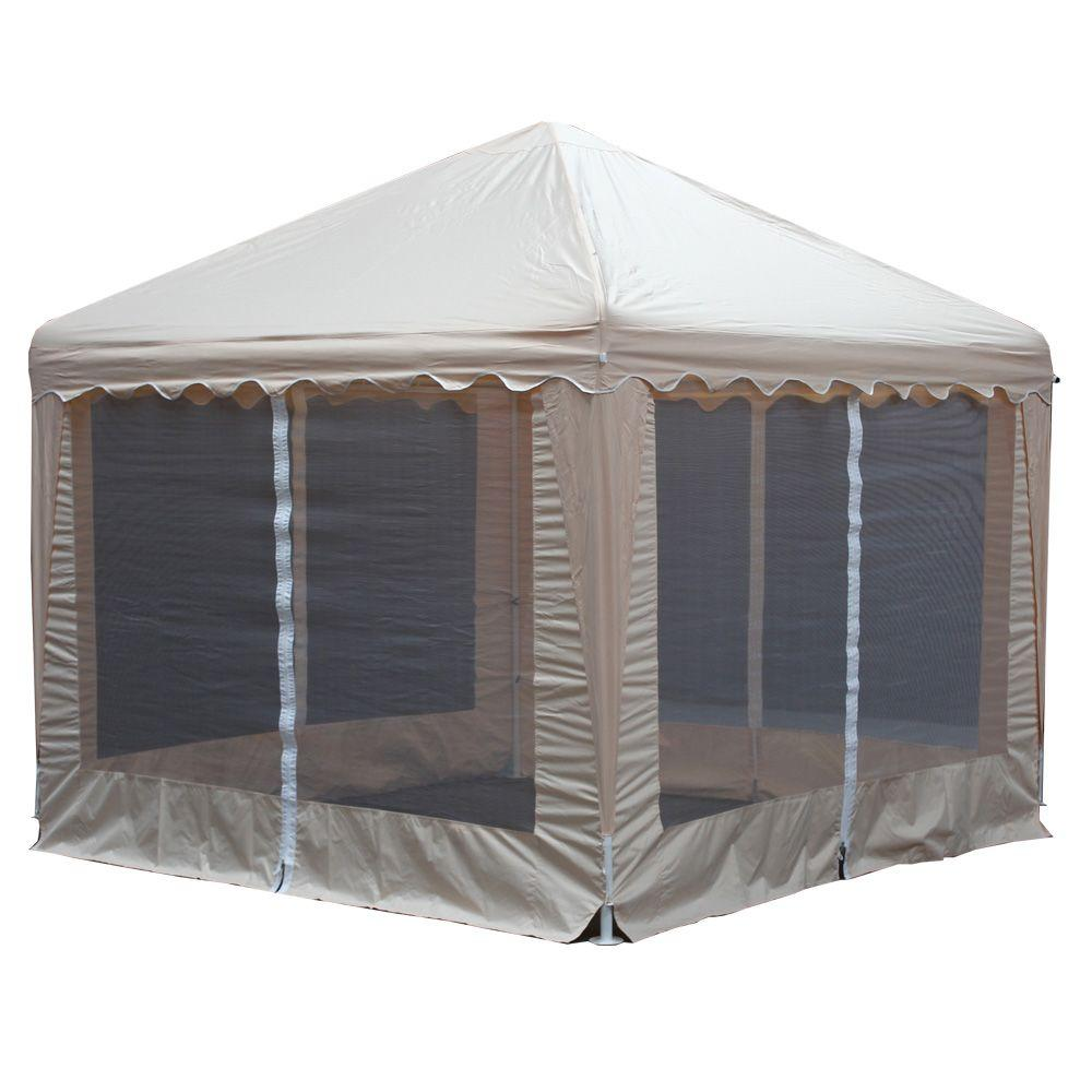 King Canopy Garden Party 13 ft. W x 13 ft. D Almond Gazebo
