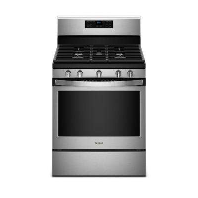 30 in. 5.0 cu. ft. Gas Range with Self-Cleaning Oven in Fingerprint Resistant Stainless Steel