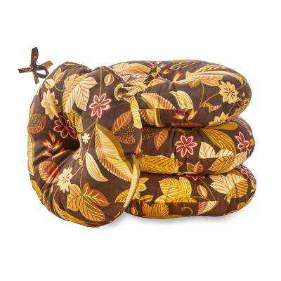 Timberland Floral 15 in. Round Outdoor Seat Cushion (4-Pack)