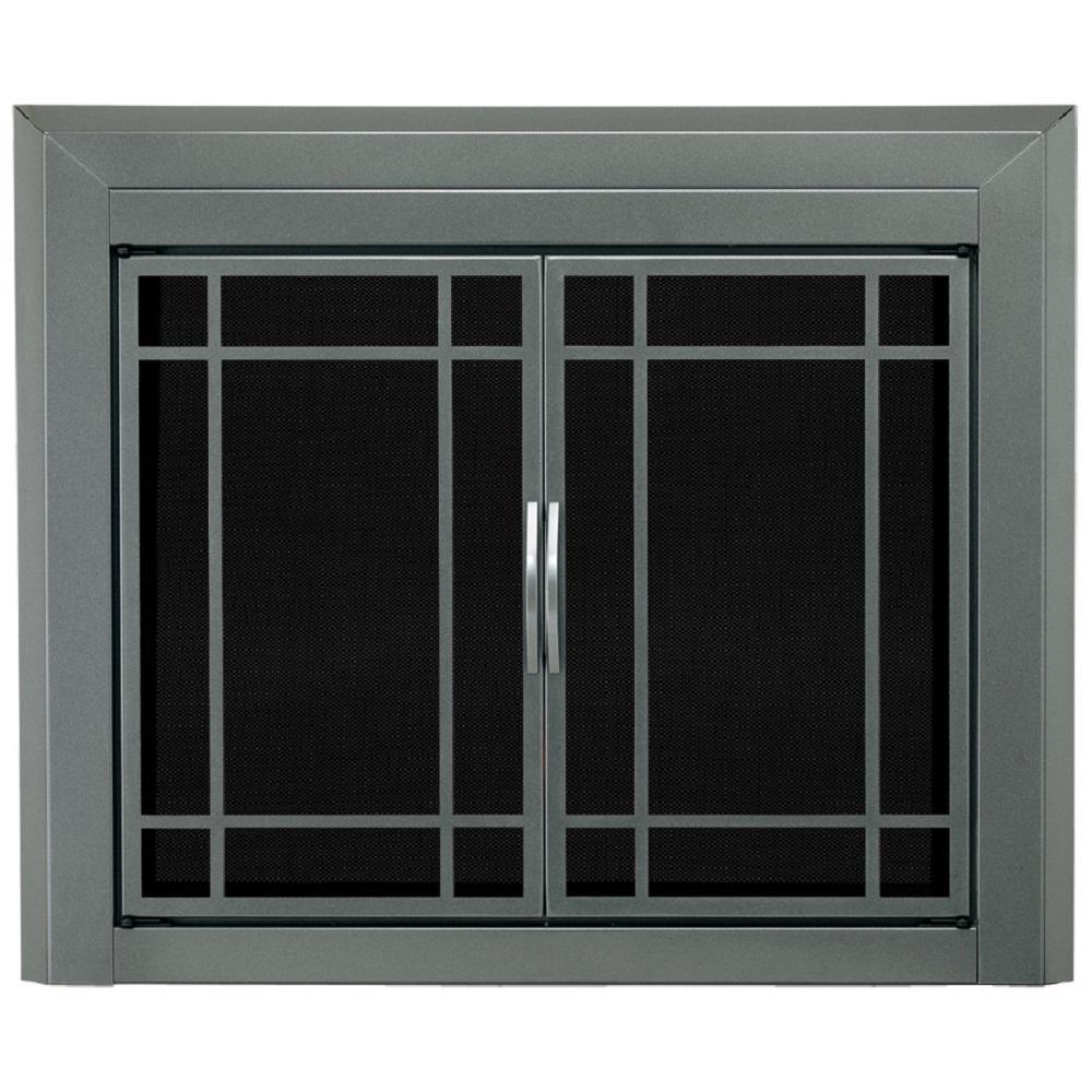 Edinburg Small Glass Fireplace Doors