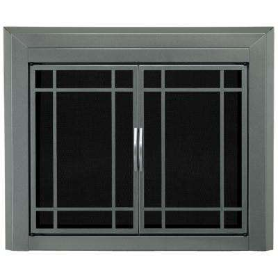 fireplace doors fireplaces the home depot rh homedepot com black fireplace doors lowes painting brass fireplace doors black