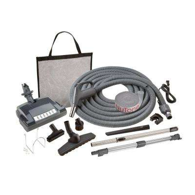 Electric Pigtail Carpet and Bare Floor Attachment Set for Central Vacuum System