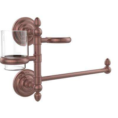 Que New Collection Hair Dryer Holder and Organizer in Antique Copper