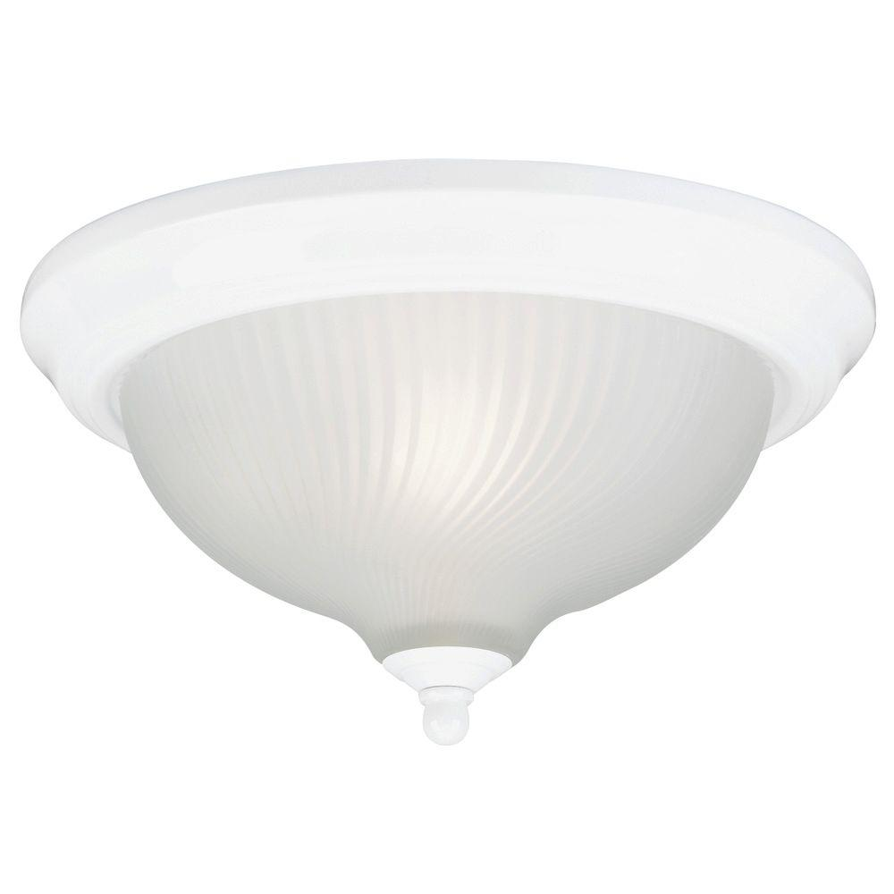 Westinghouse 3 Light Ceiling Fixture White Interior Flush Mount With Frosted Swirl Glass 6430100