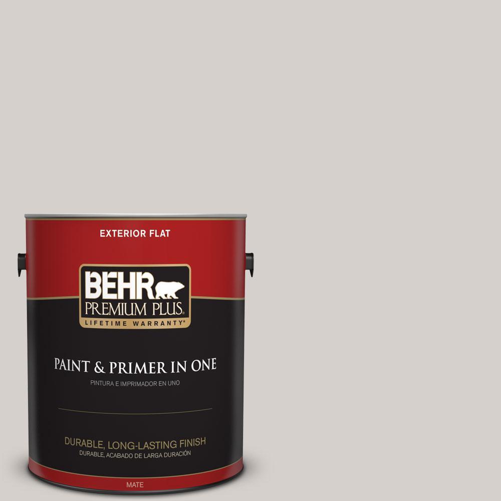 BEHR Premium Plus 1-gal. #N140-1 White City Flat Exterior Paint