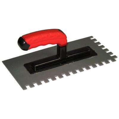 1/2 in. x 3/8 in. Plastic Trowel for Thin-Setting Tile Directly over Floor Heating Mats