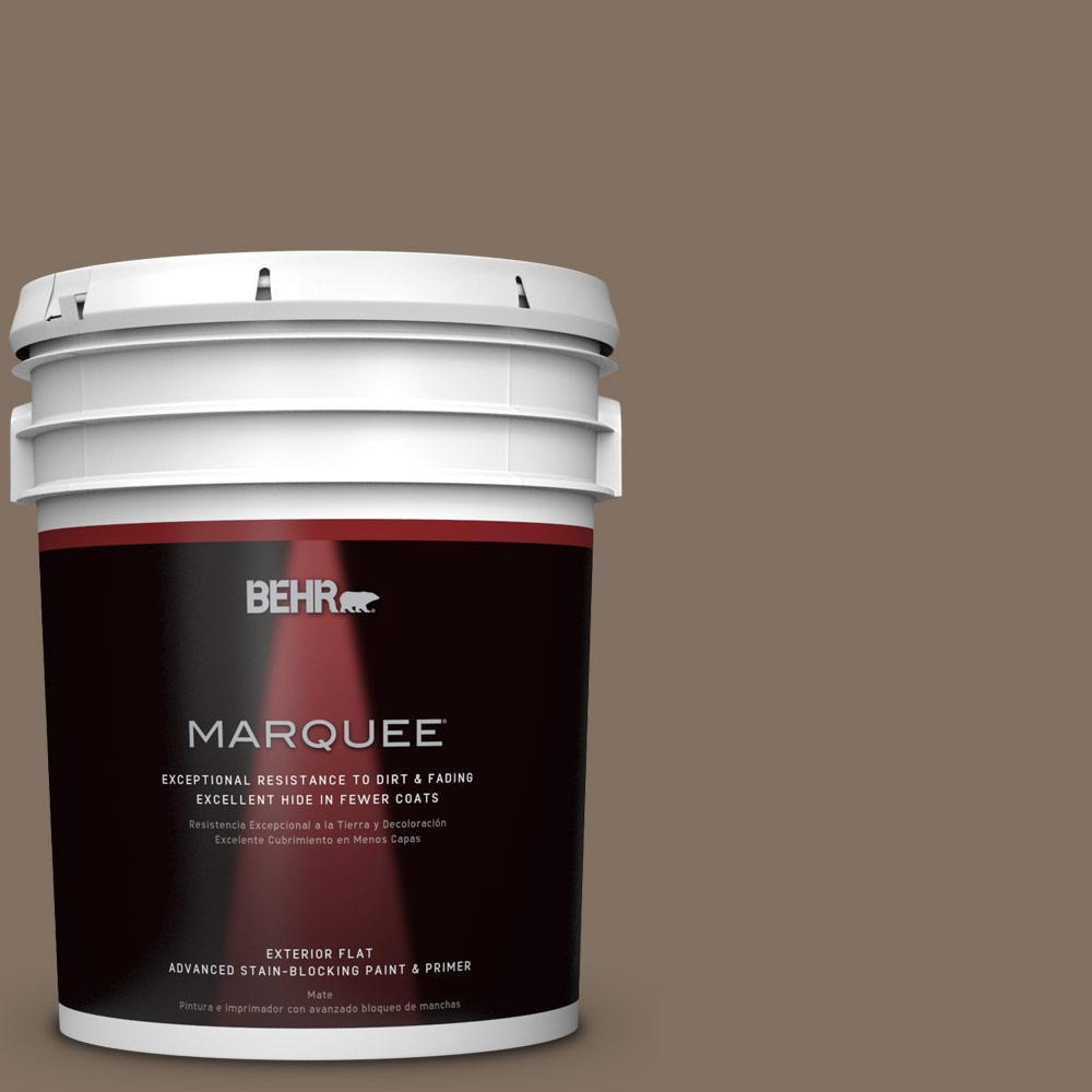 5-gal. #PPU5-4 Mocha Latte Flat Exterior Paint