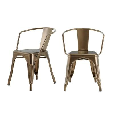 StyleWell Bronze Metal Dining Chair (Set of 2) (20.28 in. W x 28.35.95 in. H)
