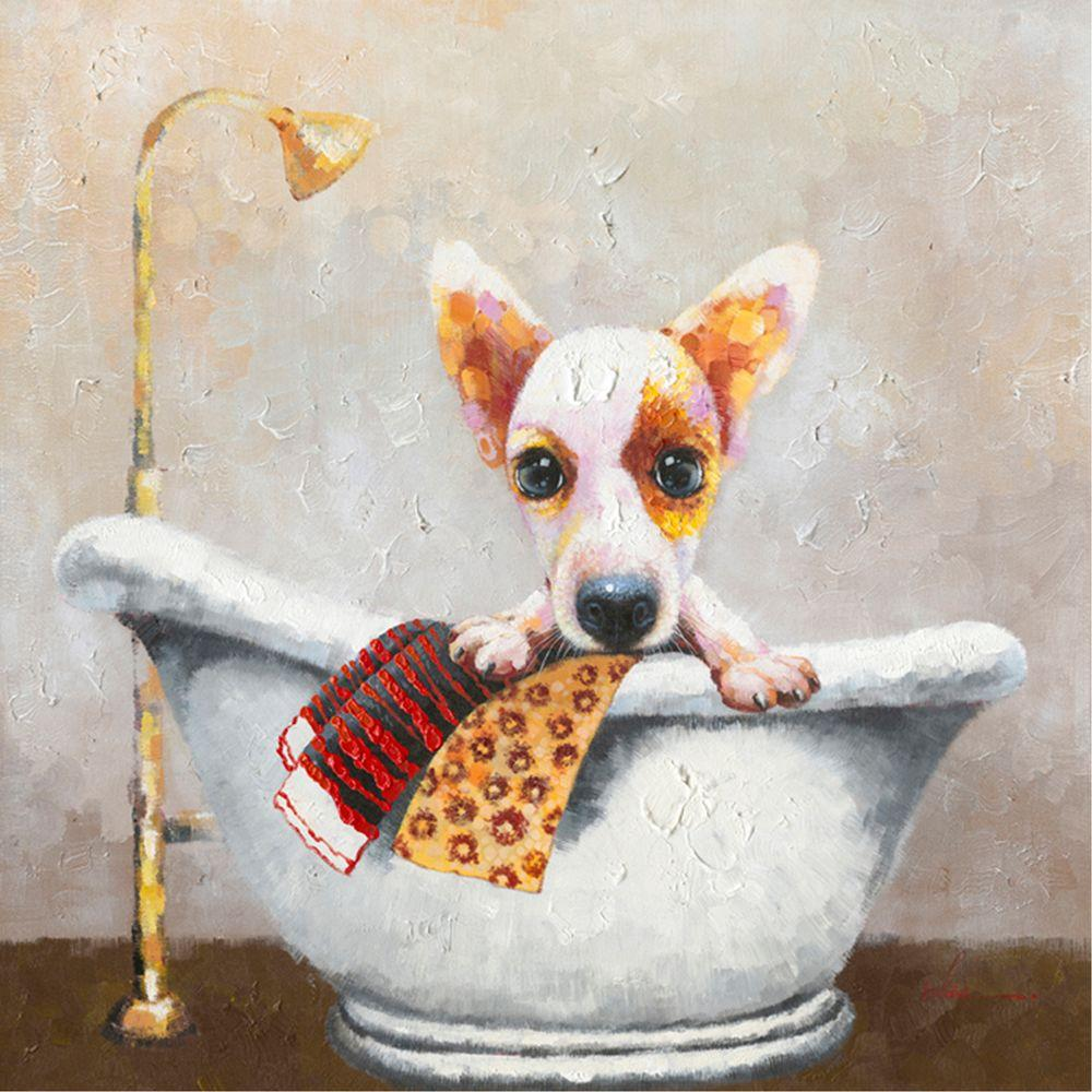 "20 in. H x 20 in. W ""Bath Time I"" Artwork"