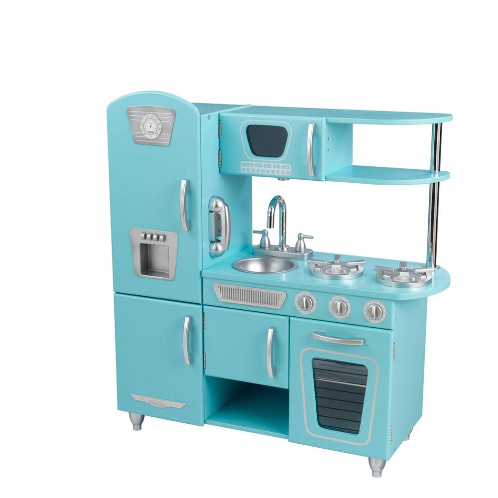 KidKraft Blue Vintage Kitchen Play Set-53227 - The Home Depot