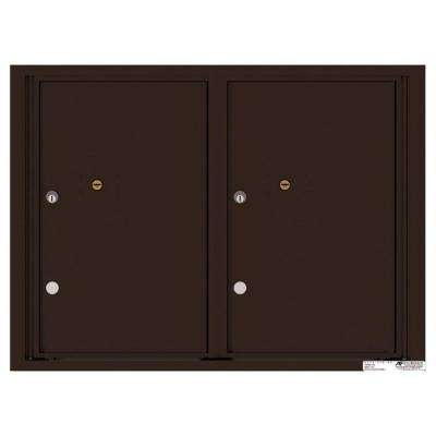 Versatile 2-Compartment Parcel Lockers Wall-Mount 4C Mailbox