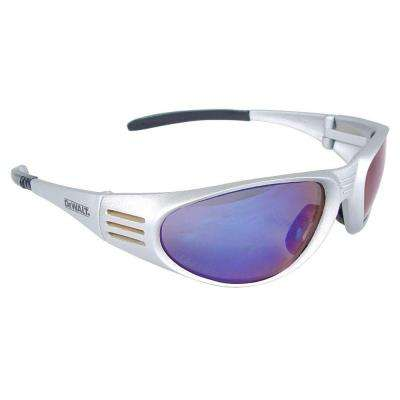 Safety Glasses Ventilator with Blue Mirror Lens