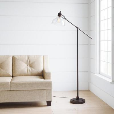 54.5 in. Oil Rubbed Bronze Counter Balance Floor Lamp