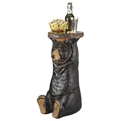 Black Forest Bear 24 in. H Sculptural Polyresin Outdoor Side Table