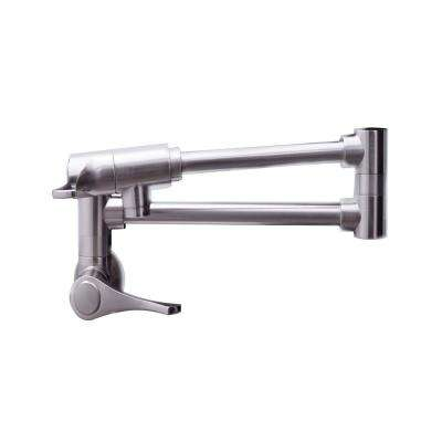 Brushed Nickel Pot Fillers Kitchen Faucets The Home Depot