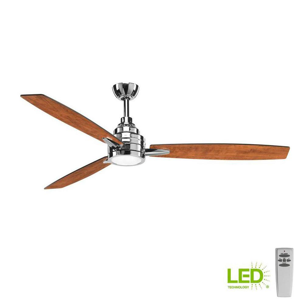 Progress Lighting Gaze Collection 60 In Led Indoor Polished Chrome Electrical Wiring Confusion Dim Lights Modern Ceiling Fan With Light
