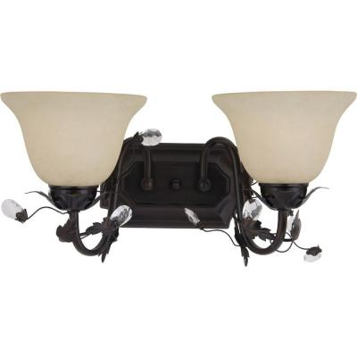 Elegante 2-Light Oil-Rubbed Bronze Bath Vanity Light