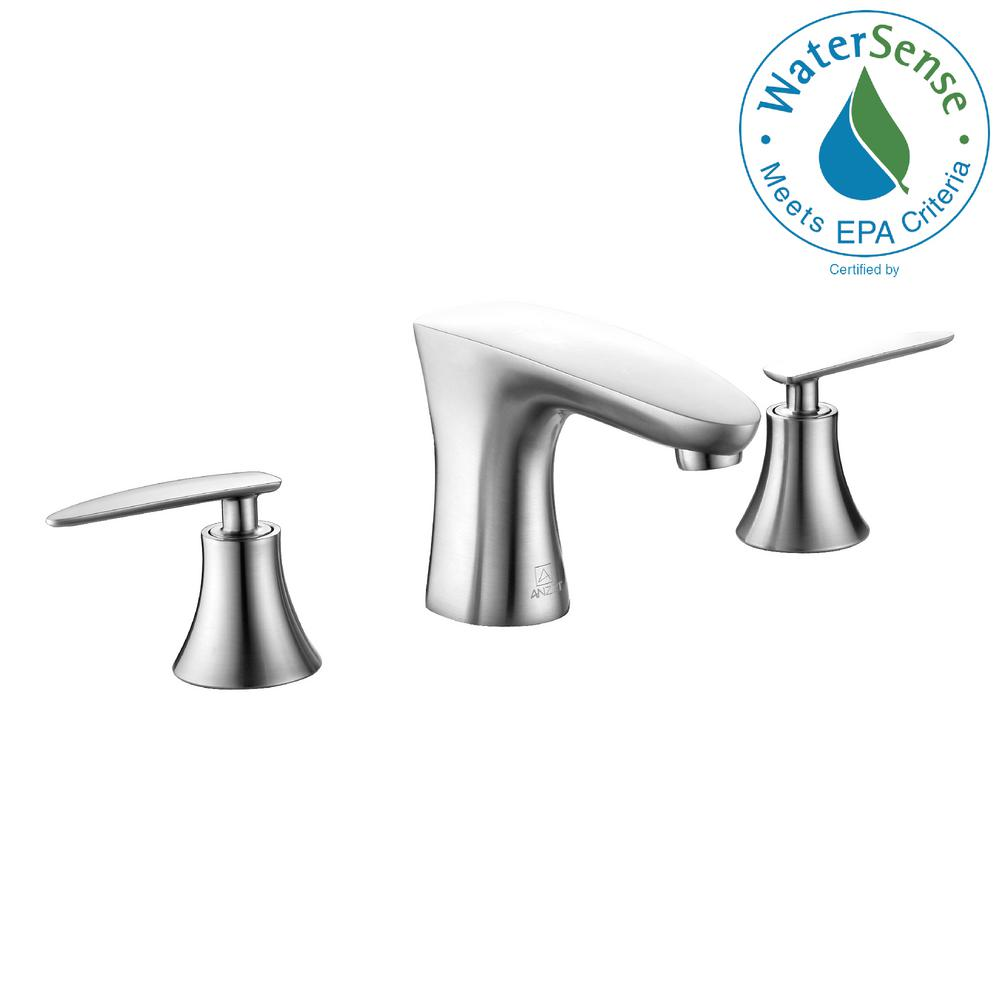 Chord Series 8 in. Widespread 2-Handle Low-Arc Bathroom Faucet in Brushed