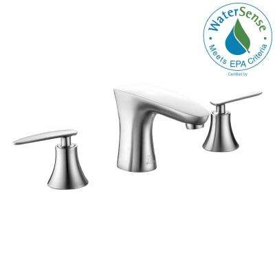 Chord Series 8 in. Widespread 2-Handle Low-Arc Bathroom Faucet in Brushed Nickel