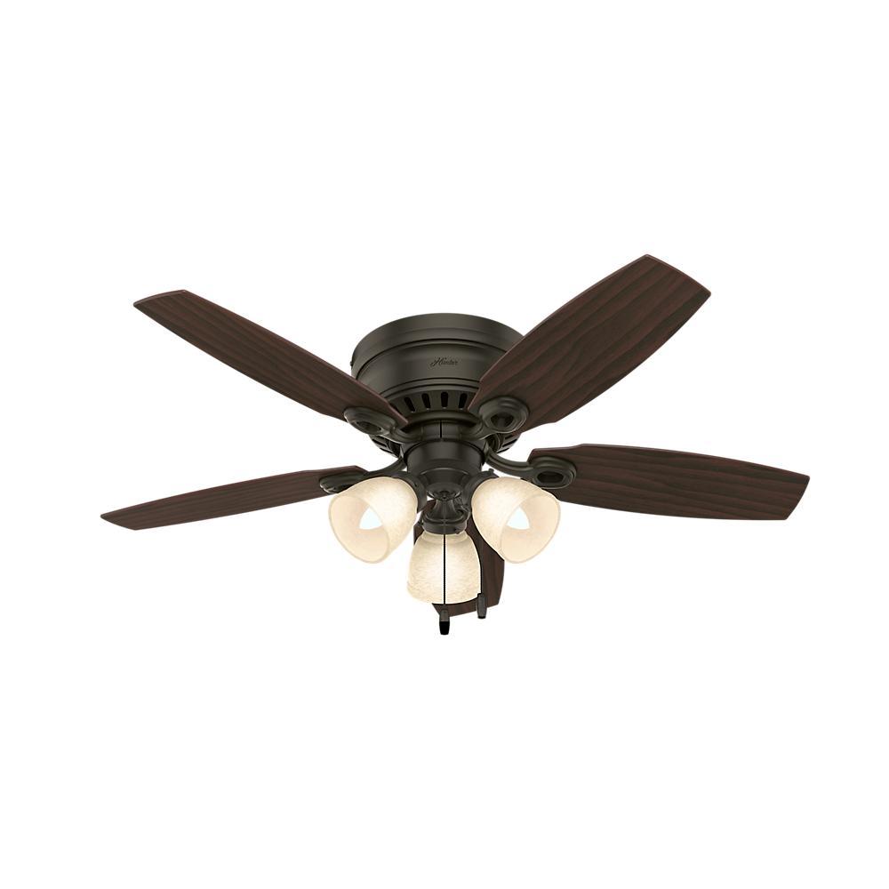 Hunter Hatherton 46 In Indoor New Bronze Ceiling Fan With