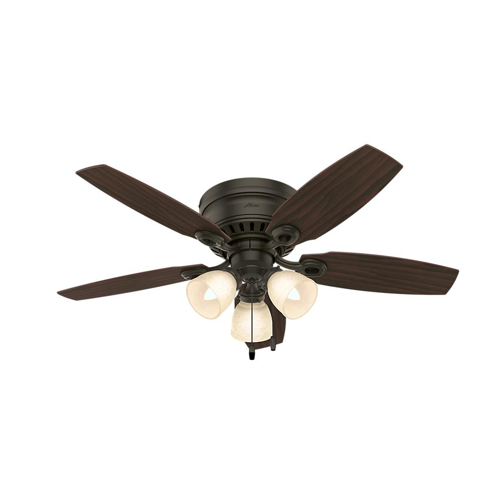 Hunter hatherton 46 in indoor white ceiling fan with light kit indoor white ceiling fan with light kit 52087 the home depot mozeypictures Gallery