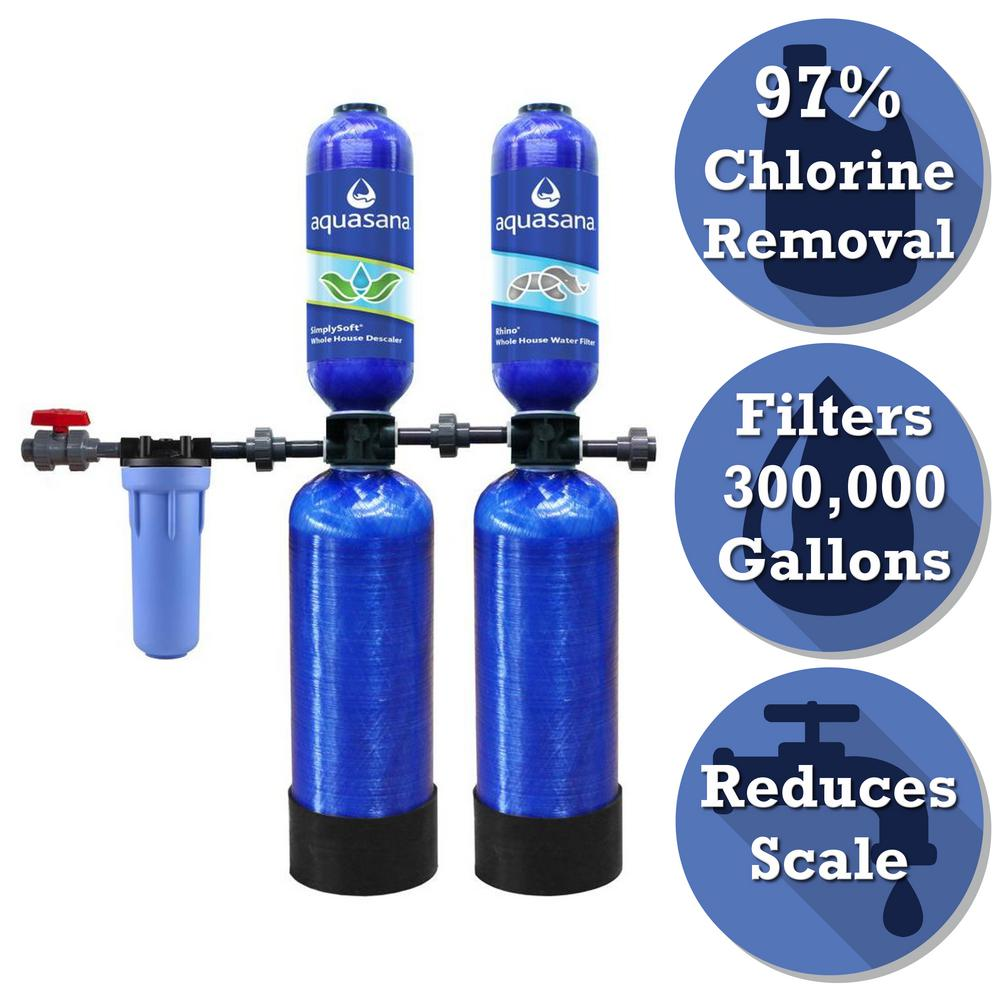 Rhino Series 5-Stage 300,000 Gal. Whole House Water Filtration System with