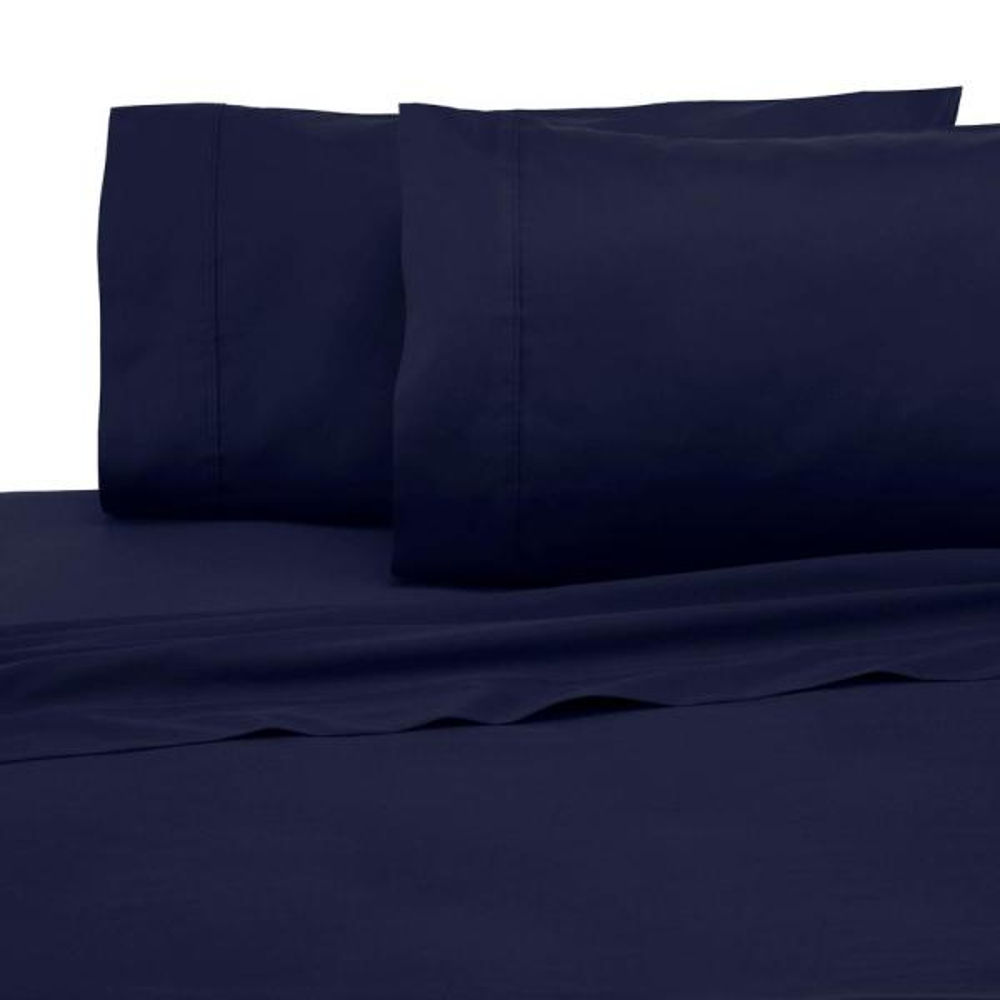 Modern Living Solid Color T300 3-Piece Evening Blue Cotton Twin XL Sheet Set