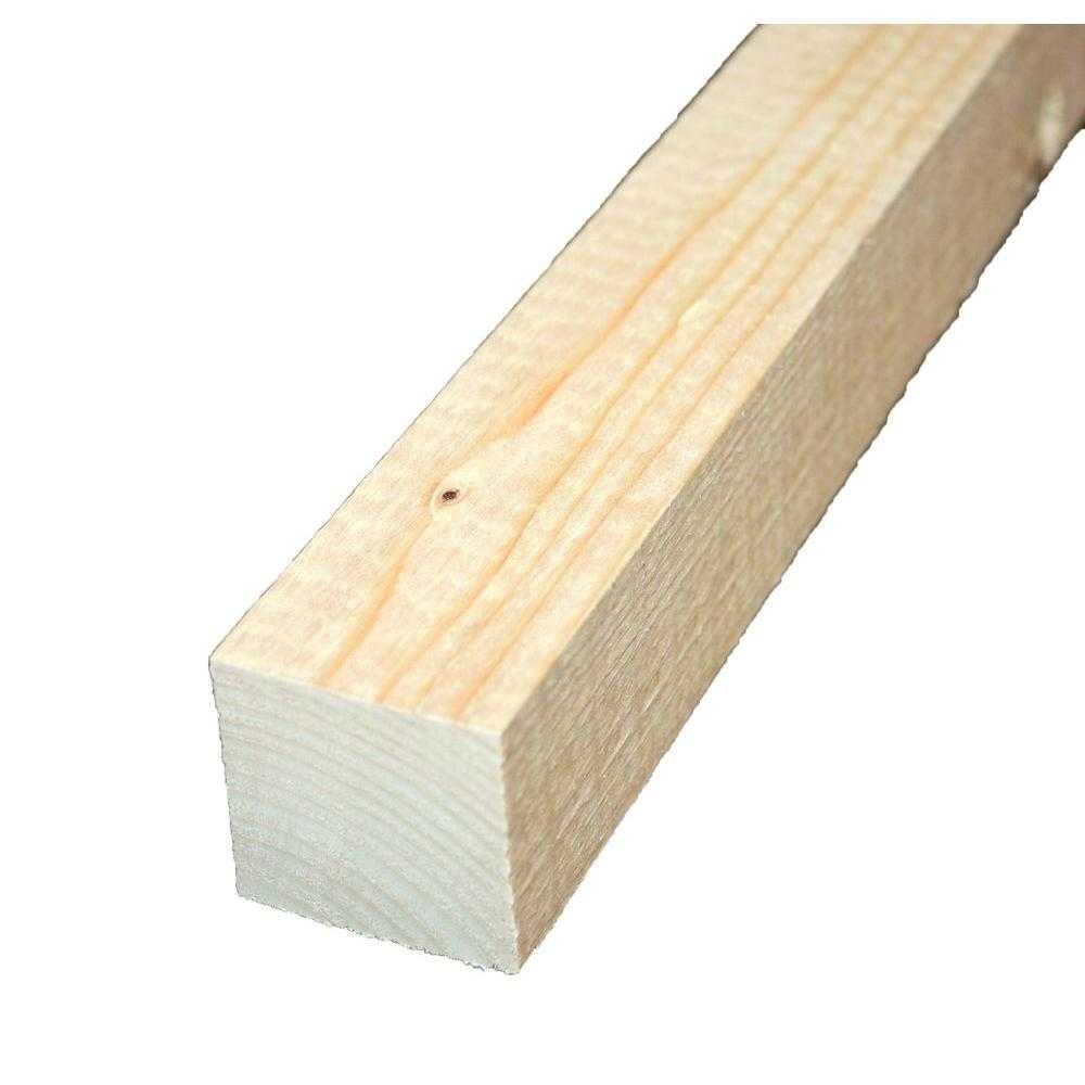 2 in. x 2 in. x 8 ft. Select Kiln-Dried Square Edge Whitewood ...