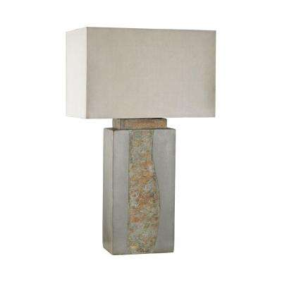 32 in. Grey Musee Outdoor Table Lamp