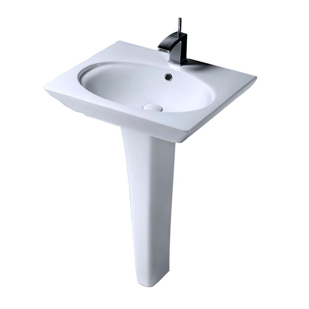 Barclay Products Aristocrat Pedestal Lavatory Combo Bathroom Sink in White