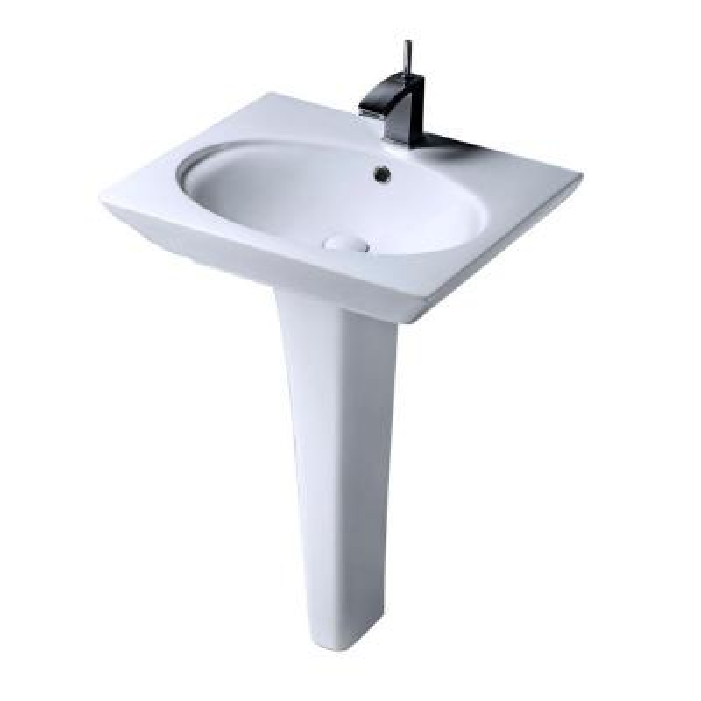 Aristocrat Pedestal Lavatory Combo Bathroom Sink in White