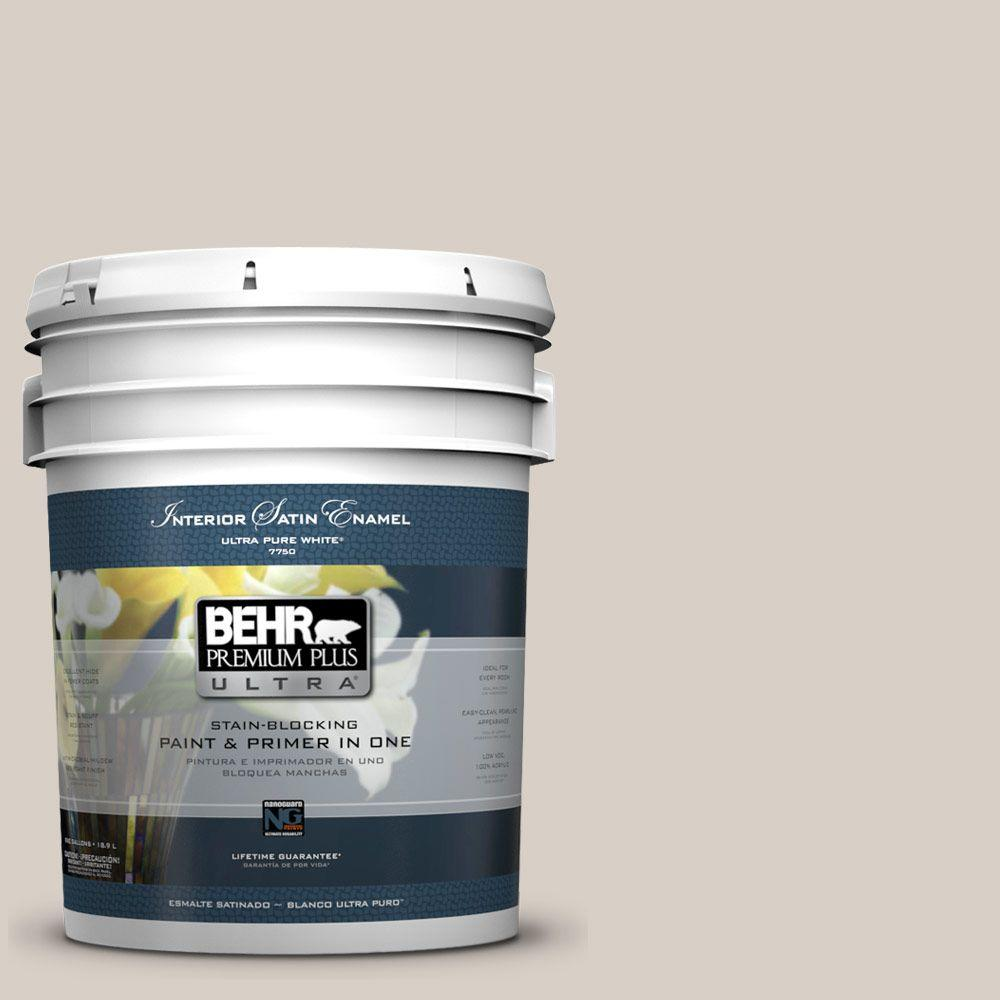 BEHR Premium Plus Ultra 5-gal. #UL170-15 Mineral Satin Enamel Interior Paint