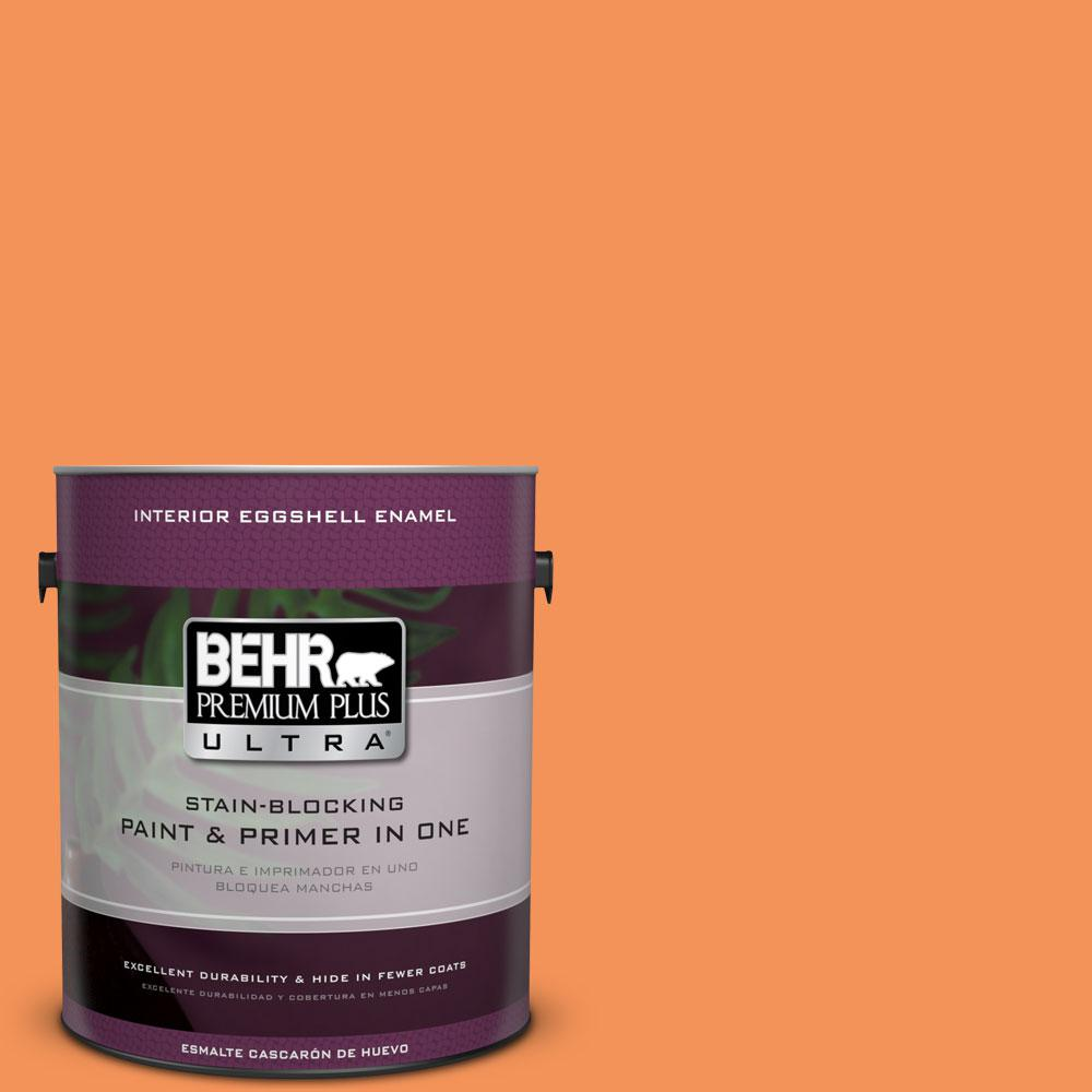 1 gal. #240B-5 Candied Yam Eggshell Enamel Interior Paint and Primer