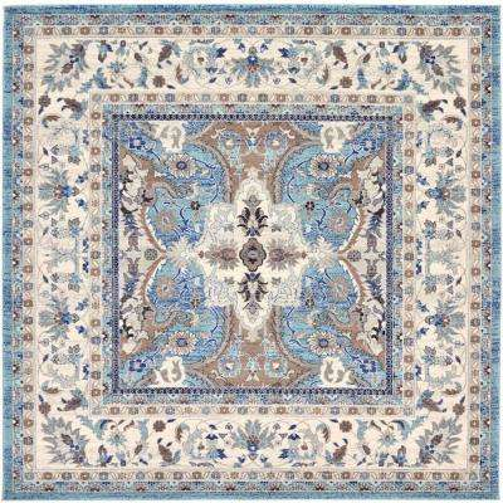 Tradition Elizabeth Light Blue 8' 4 x 8' 4 Square Rug