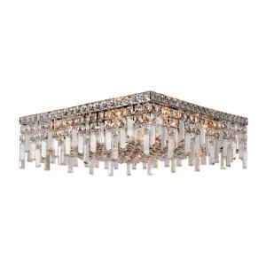 Worldwide Lighting Cascade collection 12-Light Chrome and Crystal Ceiling Light by Worldwide Lighting