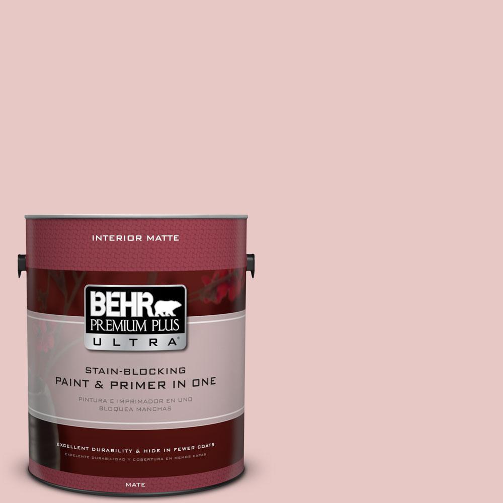 1 gal. #150E-2 Kashmir Pink Flat/Matte Interior Paint