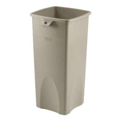 23 Gal. Beige Square Plastic Trash Can
