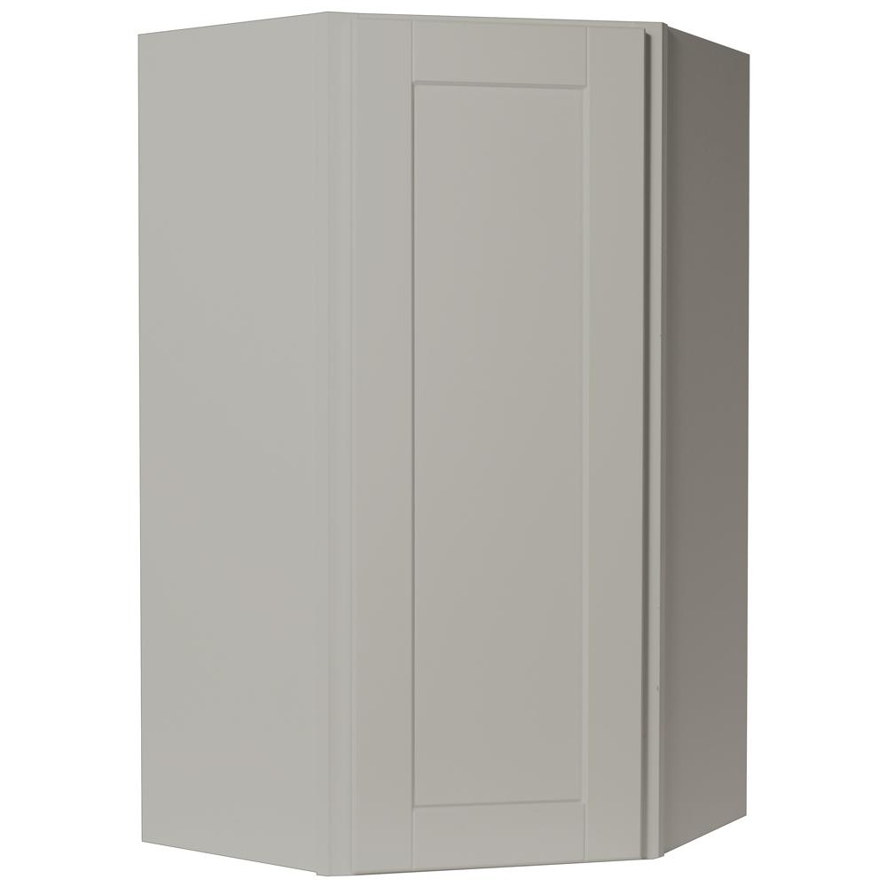 Shaker Assembled 24x42x12 in. Diagonal Corner Wall Kitchen Cabinet in Dove