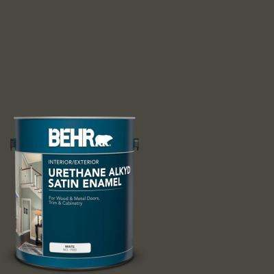 1 gal. Home Decorators Collection #HDC-CL-14A Warm Onyx Urethane Alkyd Satin Enamel Interior/Exterior Paint