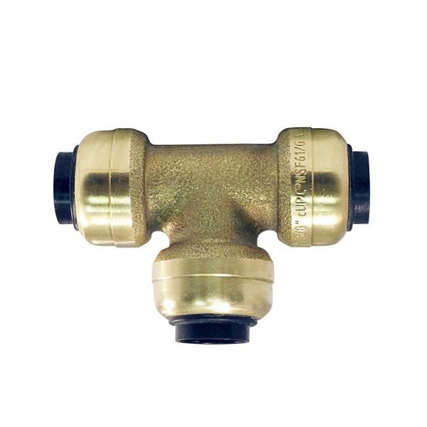 3/8 in. Brass Push-To-Connect Tee Fitting