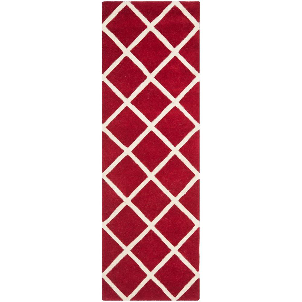Chatham Red/Ivory 2 ft. 3 in. x 7 ft. Runner
