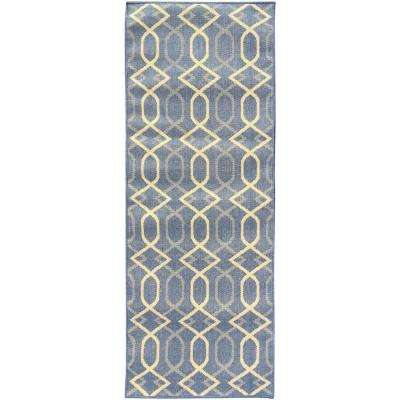 Trellis Blue Outdoor Rugs Rugs The Home Depot