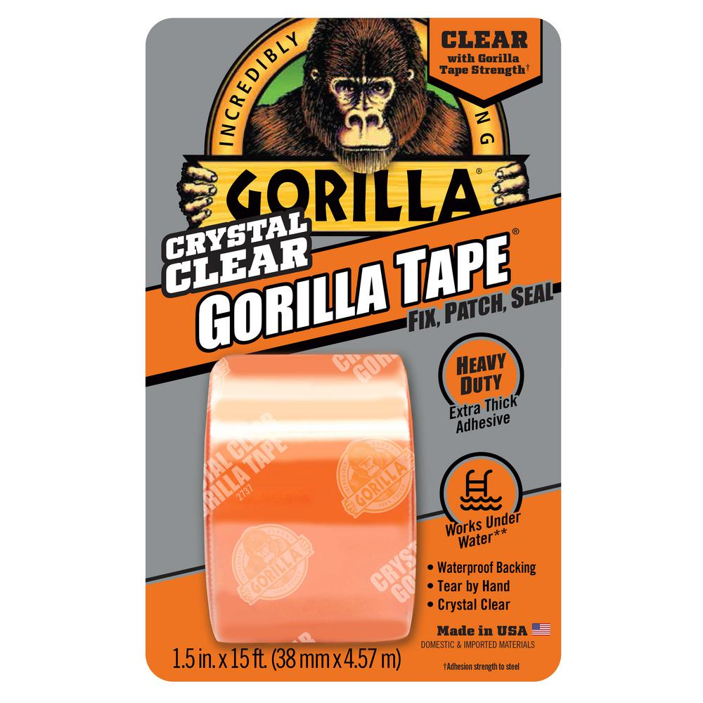Gorilla 1 5 In X 5 Yds Clear Repair Tape 6015002 The