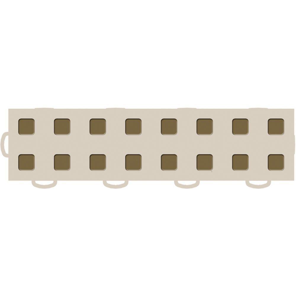 WeatherTech TechFloor 3 in. x 12 in. Tan/Medium Brown Vinyl Flooring Tiles (Left Loop) (Quantity of 10)