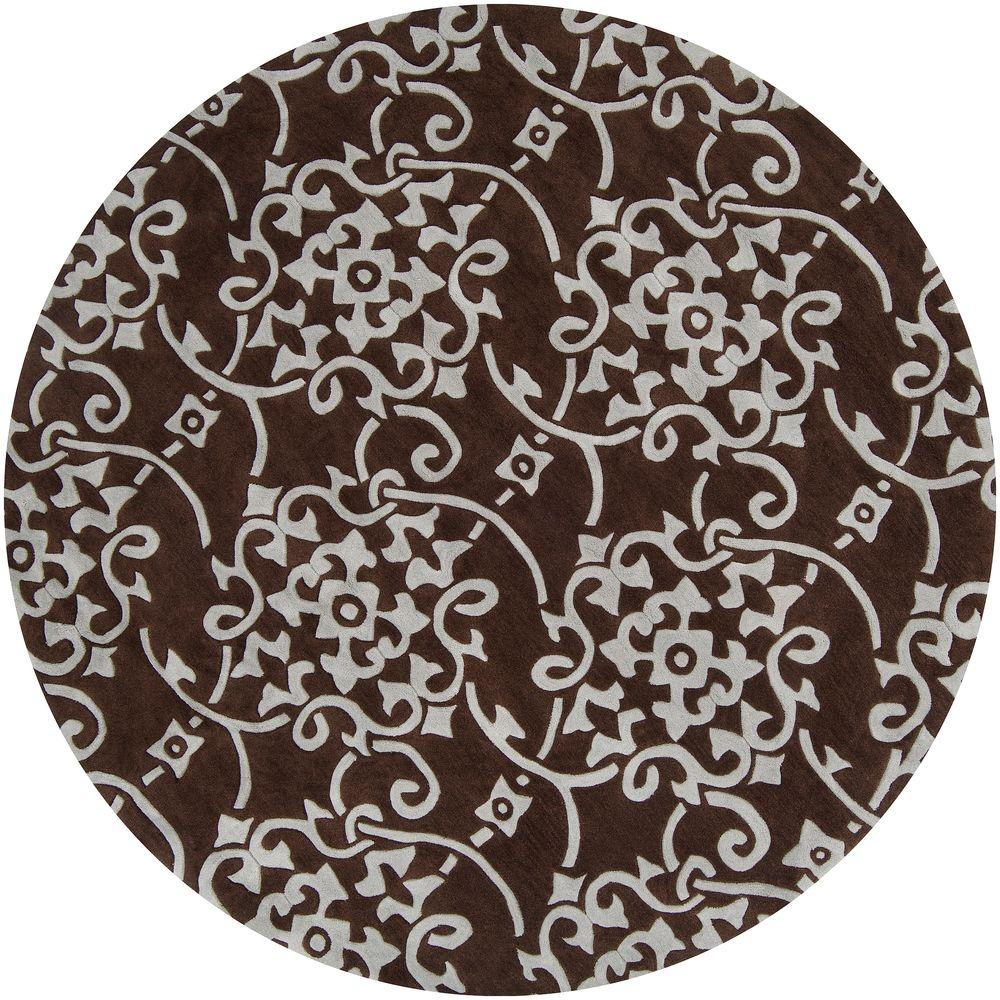Meredith Pale Blue 8 ft. x 8 ft. Round Area Rug