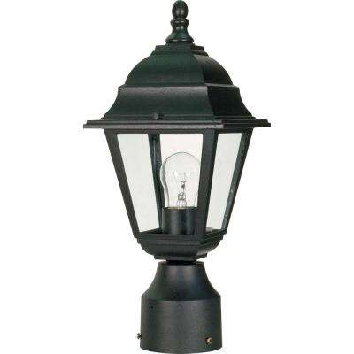 1-Light Textured Black Outdoor Incandescent Post Light